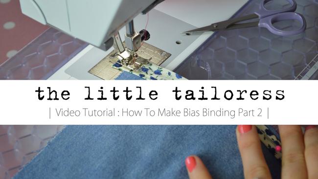 Bias binding video tutorial part 2 header