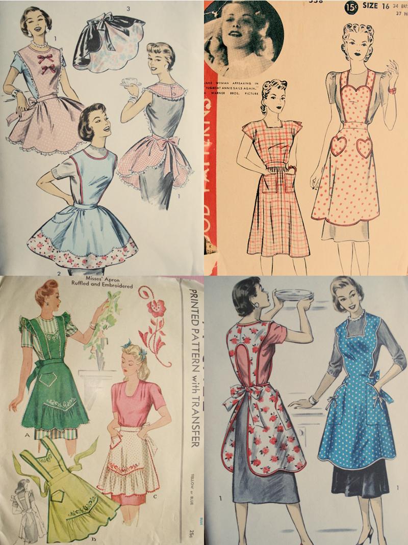 Vintage apron collage