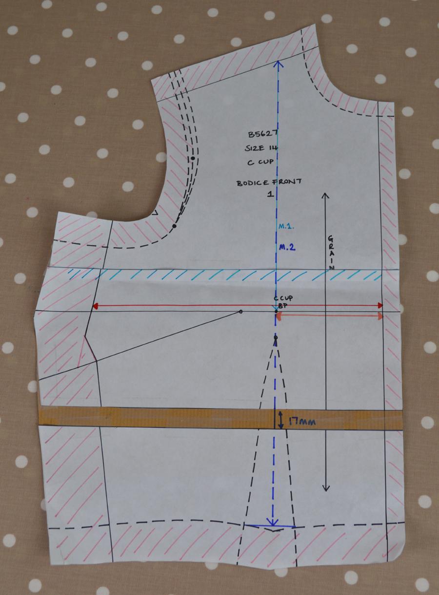 front bustline pattern