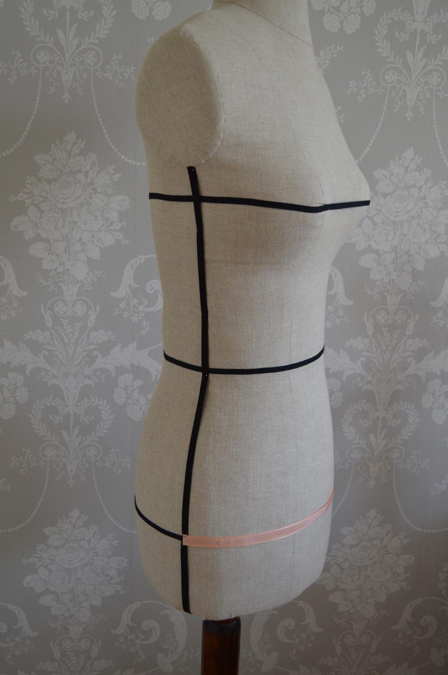 Front Hip measurement on Dressform
