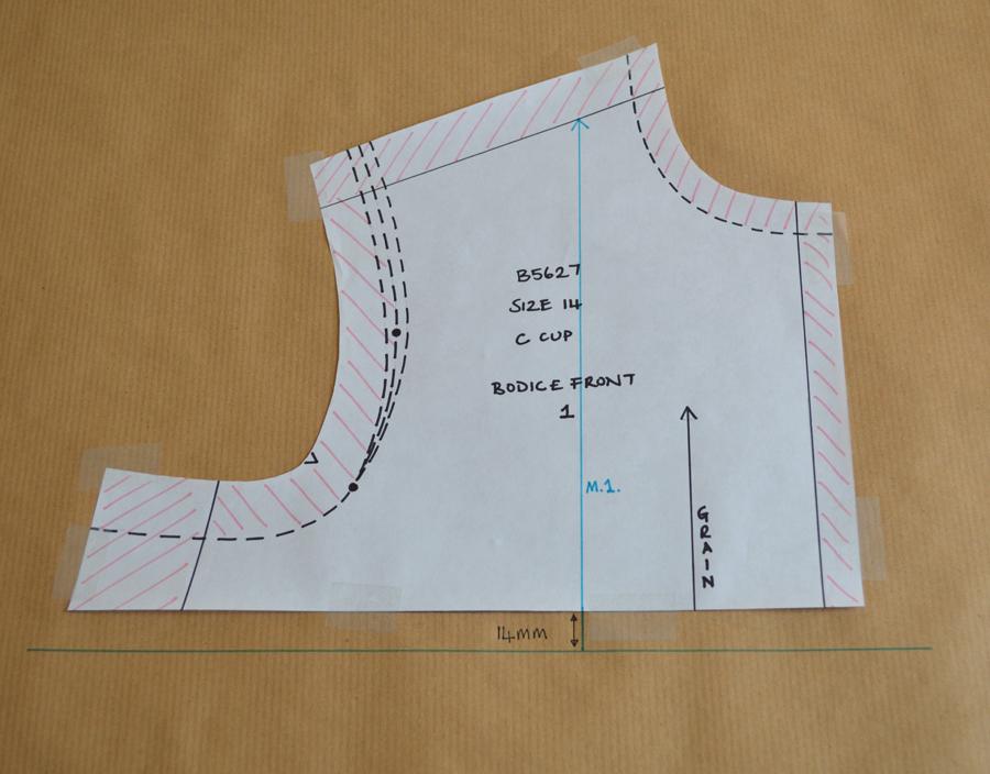 lengthening upper bodice front 1
